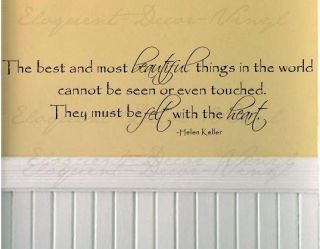 Helen Keller Quote Wall Decal Vinyl Beautiful Things