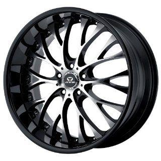 19x8 Lorenzo WL27 (Gloss Black w/ Machined Face) Wheels/Rims 5x112