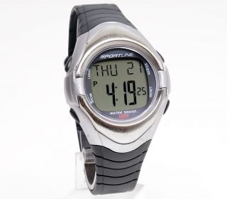 SX 4824 MENS DIGITAL HRM HEART RATE MONITOR WATCH STEEL / GREY FINISH