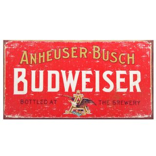 budweiser beer old fashioned bar sign made to look just like an