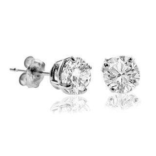 10 CT Diamond Stud Earrings 14k White Gold (I1 I2 Clarity) Jewelry