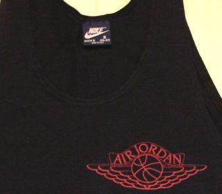 Vintage 80s Nike Blue Tag Air Jordan Wings Tank Top Mens Small 35 37