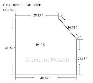 Wood Pellet Stove Board Hearth 2 4 R Value Stardust Corner Pad