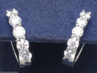 HEARTS ON FIRE 18k white gold & diamonds MINI HOOP earrings .99ctw