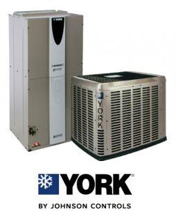 Ton 15 SEER York Heat Pump System YZE03611 AHE42D3XH21 S11TVM4F1