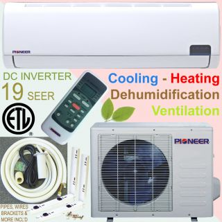 PIONEER 19 SEER INVERTER Ductless Mini Split Air Conditioner Heat Pump