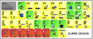Alibre Design Keyboard Stickers for Computers Laptops