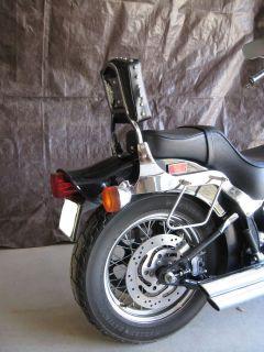 Sissy Bar Backrest for Harley Softail w 200mm Rear Tire Studded