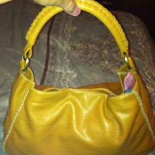 Yellow Leather Purse in Handbags & Purses