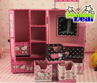 Hello Kitty Jewelry Box Case Storage Drawer C w Mirror