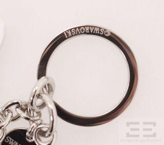Swarovski Leather Jeweled Hello Kitty Charm Keychain New in Box