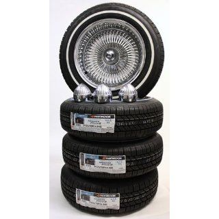 14 Inch Dayton Style Reverse 100 Spoke Wire Wheels and White Wall