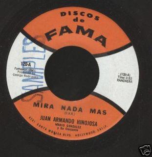 Juan Armando Hinojosa Mira Nada mas 45 Fama 120 Sample