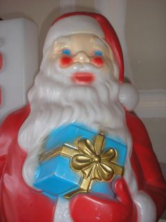 VTG EMPIRE CHRISTMAS SANTA CLAUS BLOW MOLD LIGHTED HOLIDAY YARD