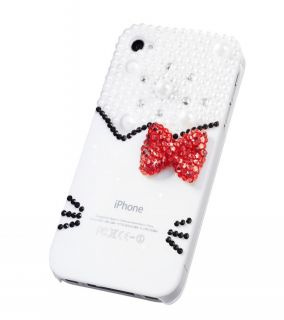 Bow Kitty Pearl Bling Diamond Case For iPhone 5 5G , hello kitty cases