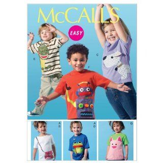 McCalls Patterns M6545 Childrens/Boys/Girls Tops and