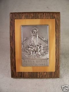 Fatima Shrine Holliston Mass Religious Plaque Plate
