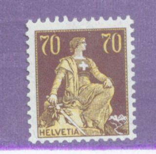 Switzerland 141 LH 1908 Seated Helvetia CV 55 00