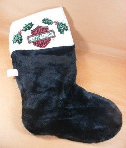 Harley Davidson Motorcycle Christmas Stocking Plush