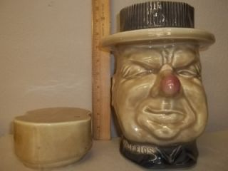 Vintage WC Fields Ceramic Cookie Jar USA 153 1970s