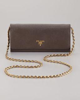 Prada Saffiano Metal Oro Chain Wallet & Crossbody Bag Wallet   Neiman