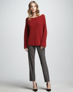 Vince Chunky Boat Neck Sweater & Cropped Trousers