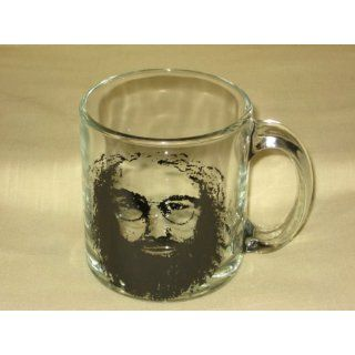 Dead  Jerry Garcia  13 Ounce Glass Drinking Mug: Everything Else