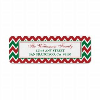 Chevron Pattern Return Address Labels (red)