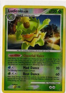 Ludicolo 34 Reverse Holo Pokemon Card Platinum 120 HP