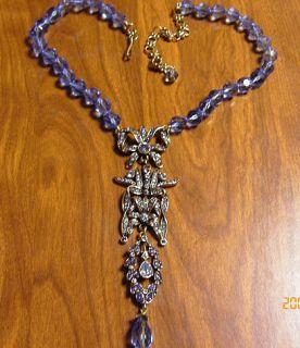 HEIDI DAUS Frog Prince 16 1/2 Crystal Accented Drop Necklace