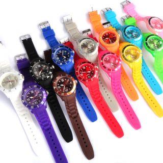 New Fashion Silicone Rubber Quartz Wrist Jelly Watch Unisex with