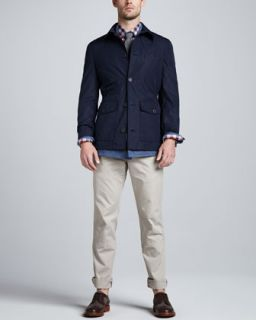 47WH Brunello Cucinelli Water Repellant Safari Jacket, Double