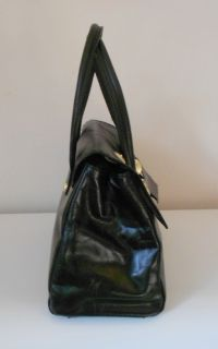 Cynthia Rowley Authentic Helena Black Leather Satchel Handbag Purse $