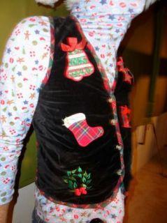 Hodge Podge Velveteen Ugly Christmas Sweater Party Vest Mens Womens