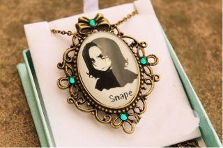Harry Potter Snape Cute Figure Copper Glass Pendant Necklace Sweater