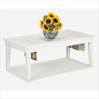 Home Styles Furniture Wood Top Cocktail White Finish Coffee Table