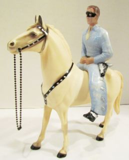 HARTLAND 1950s THE LONE RANGER WESTERN HORSE & RIDER SET W/ BOX