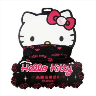 Hello Kitty Bike Hiking Bandana Head Scarf Black Sanrio
