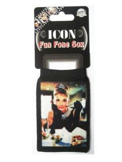 Audrey Hepburn Breakfast at Tiffanys  Player Mobile Phone Sock