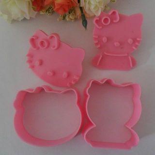 Hello Kitty Pink shape mold sugar Arts set Fondant Cake tools/ Cake