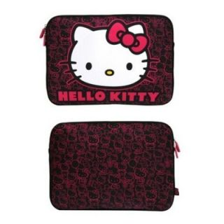Hello Kitty MacBook Mac Pro Laptop Computer Case Sleeve 13 Pink Black