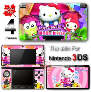 Hello Kitty Pink Skin Cover Sticker 2 for Nintendo 3DS