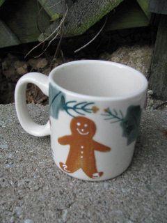 HARTSTONE POTTERY GINGERBREAD CHILD MUG Christmas Sample Older