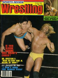 Hulk Hogan Sports Review Wrestling Magazine October 1980 Apartment