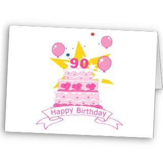 Torta de cumpleaños de 90 años felicitación de