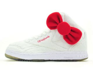 Reebok PT 20 Int x Hello Kitty Plush Kitty White J22039 Wmns US 5 5 8