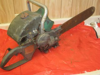 Vintage Homelite Model 17A Gear Drive Chain Saw Non Running