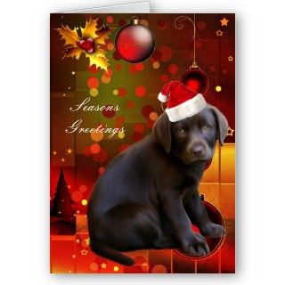 Card Christmas Labrador Puppy Dog Christmas Cards Xmas