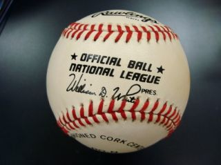 Harvey Haddix Single Signed Official Baseball Inscribed Perfect Game
