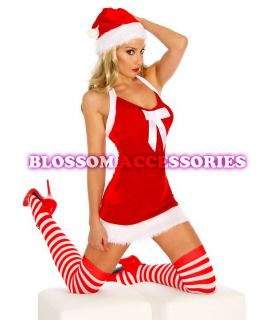 F28 Santa Claus Christmas Helper Fancy Dress Costume Xmas Party Outfit